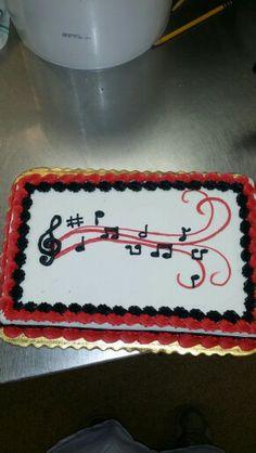 Music cake Music Birthday Cakes, Music Themed Cakes, Music Cakes, Music Themed Parties, Violin Cake, Family Tree Cakes, Square Birthday Cake, Music Note Cake, Cake Band