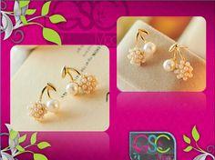 a7ac76a2a18d Luce  radiante y hermosa con estos  zarcillos de  cereza que podrás  encontrar en Gsc Moda  fashion  estilo   ventas al  mayor y  detal en   caracas ...