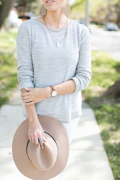 spring hat, turquoise jewelry, pretty necklace, leather earrings