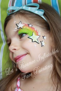 Girls Eye Design Face Painting by Let's Bounce Inflatables, Vancouver BC
