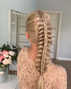 Braided hairstyle for long hair video tutorial simple and beautiful By Cute Braided Hairstyles, Easy Hairstyles For Long Hair, Braids For Long Hair, Bride Hairstyles, Updo Hairstyle, Undercut Hairstyles, Hair Up Styles, Medium Hair Styles, Viking Hair