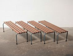 Wood Slatted Stacking School Bench with Tubular Metal Frame -- thoughts ??