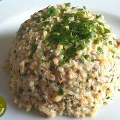 Risotto de boulgour-courgettes au sésame (vegan)