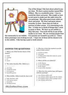 english reading and comprehension worksheets - Поиск в Google
