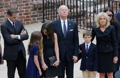 A teary-eyed Vice President Joe Biden joined mourners for a memorial service at a Catholic church in Wilmington, Delaware, Thursday to pay his respects to his late son, former Attorney General Beau Biden. Beau Biden, Joe Biden Son, Jill Biden, Thing 1, Pictures Of The Week, Best Husband, Pope Francis, Funeral, Usa