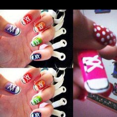 Converse on Nails = @Gemma Casebier made me think of you =)