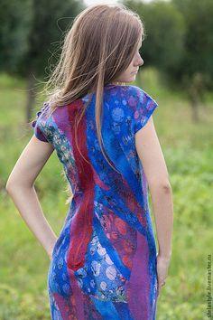 Платья ручной работы. Заказать Indigo.... Stela Style. Ярмарка Мастеров. Валяное платье, единственный экземпляр, коктельное платье