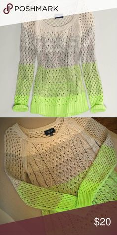 American Eagle Outfitters Ombre Sweater American Eagle Outfitters Ombre Sweater Size Small Perfect Condition. Planned to wear but never liked color on me .I was shopping w hubby & being rushed. I never tried it on, it was a impetuous buy! Its a beautiful stylish sweater. Just not for me. Different shades of green, shades of beige, shades of gray, shades of light creme/ivory ending @ neck. Its an open stitch sweater. Can be worn w/a tank or long sleeve body suit in any color on sweater. Looks…