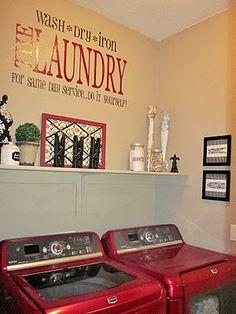 really cute laundry room