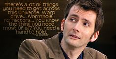 """Ok so my brothers and I were playing this doctor who quiz thing on their tablet and there was a question about this quote and one of my brothers was like """"so that's why he keeps his hand in that jar"""" lol<< OMG hahaha"""