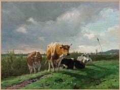 cow plurality-by Anton Rudolf Mauve 1838-1888