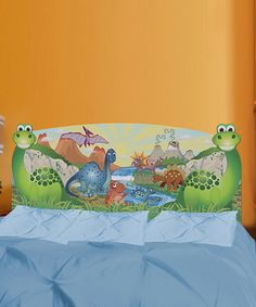 Take a look at this Dinosaur Headboard Wall Decal Set by Mona MELisa Designs on #zulily today!