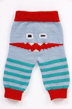 Ravelry: Monsterpant/Monsterbukser - Baby pattern by Tonje Ailin Solheim Baby Patterns, Knitting Patterns Free, Baby Knitting, Knit Or Crochet, Crochet Baby, Ravelry, Big Knit Blanket, Baby Pullover, Big Knits