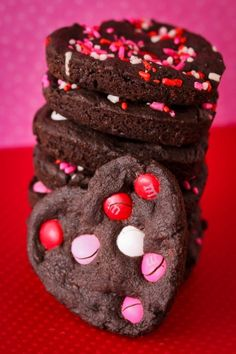Valentine's Day Chocolate Heart Cookies Made In A Whoopie Pie Pan,  2014 Valentine's Day Cookie  #Valentines #ideas #dessert #recipes www.loveitsomuch.com