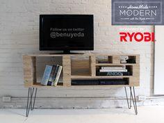 DIY tv stand / media center from Ben Uyeda + HomeMade Modern