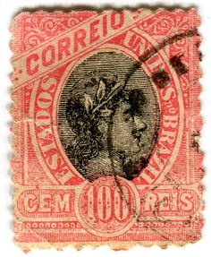 Brazil postage stamp: red Correio c. vintage stamps for World Cup Countries Rare Stamps, Old Stamps, Vintage Stamps, Postage Stamp Art, Going Postal, Tampons, Mail Art, Stamp Collecting, My Stamp