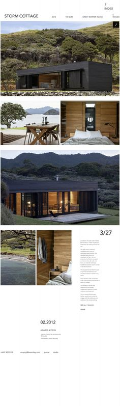 Located on the east coast of Great Barrier Island – a black rough sawn timber box sits looking north to the sea. By Fearon Hay Architects, photos by Patrick Reynolds. Residential Architecture, Contemporary Architecture, Architecture Details, Casas Containers, Weekend House, Timber House, Prefab Homes, Architect Design, Cottage