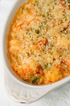 Seafood Gratin With Clam Juice Heavy Cream White Wine Tomato Puree Shrimp Cod Lobster Meat Unsalted Butter All Purpose Flour Kosher Salt Pepper Sliced Leeks Shredded Carrots Panko Breadcrumbs Grated Parmesan Cheese Fresh Parsley Garlic Seafood Recipes, Cooking Recipes, Healthy Recipes, Cookbook Recipes, Seafood Casserole Recipes, Lobster Recipes, Recipes With Shellfish Stock, Seafood Pie Recipe, Free Recipes
