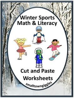 With these Winter Math and Literacy Cut and Paste worksheets, students in preschool, kindergarten, special Ed, and autistic classrooms will practice visual discrimination, color recognition, match pictures, upper/lower case letter recognition, complete patterns, count/recognize numbers, add/subtract and more.