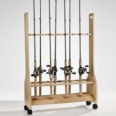 Organized Fishing 16-Rod Large Rolling Floor Rack, SWRR016