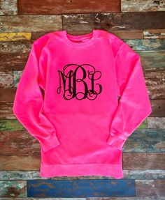 Monogrammed Sweatshirt Monogram Sweatshirts Gifts Crewneck Gift For Her Under 20