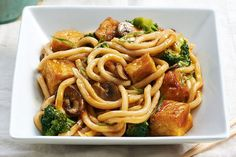 Crispy Tofu Stir-Fry with Udon Noodles