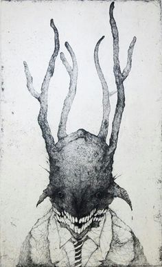 Toshihiko Ikeda Arte Horror, Horror Art, Illustrations, Illustration Art, Intaglio Printmaking, Dark Art Drawings, Macabre Art, Creature Design, Gravure
