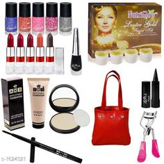 Makeup Kits Premium Choice Makeup Kit Combo Product Name: Classis Range Makeup Combo (Set Of 18 Pieces) C367 Product Type: Makeup Kit Combo  Product Description:  Get an expert like professional touch with the Combo. The luminous silky formula gives a natural looking radiance to your skin. The products come in an amazing combination of shades that will add a perfect hint of color which will blend effortlessly with your look. This Combo Sets by copy is the All in one set that has all you need for a professional makeup each individual makeup is manufactured with high quality materials  Package Contains: It Has 1 Pack Of Makeup Kit Combo Country of Origin: India Sizes Available: Free Size   Catalog Rating: ★3.9 (2654)  Catalog Name: makeup kit Sensational Choice Makeup Kit Combo Vol 3 CatalogID_211302 C51-SC1245 Code: 564-1624321-6282