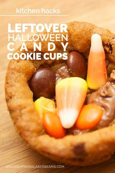 Halloween Candy Cookie Cups #PAMCookingSpray (AD)