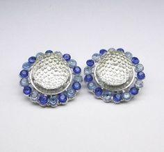 Blue & White Clip On Earrings Gemstone Earrings, Clip On Earrings, Bracelet Watch, Gypsy, Blue And White, Gemstones, Bracelets, Accessories, Beauty