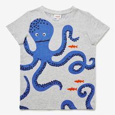 Octopus Tee SMOKE GREY MARLE