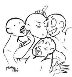 left to right. me, vex, dio, yato
