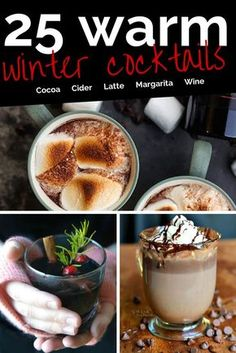 These warm winter drinks with alcohol are the perfect thing to warm you up!