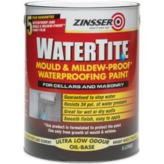 Zinsser Watertite Waterproofing Paint http://www.thedecoratingcentre.co.uk/zinsser-watertite-waterproofing-paint-white-5l.html