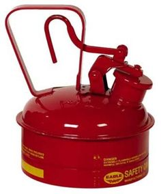 """Eagle Ui-4-S Red Galvanized Steel Type I Gas Safety Can, 2 Quart Capacity, 8.75"""" Height, 6.75"""" Diameter, 2015 Amazon Top Rated Gas Cans #BISS"""