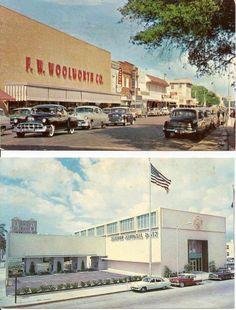 "vintage bradenton florida postcards | ... other Times"" > Cars, Pontiac, Kaiser, 2 Bradenton FL Scenes, Woolworth"