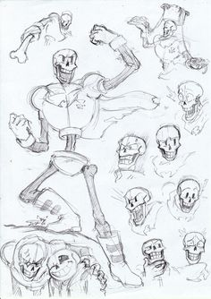 """allywithfeelings: """" ·=The Great Papyrus!=· Oh Boy how I love this cool dude. Is an amazing character and I learned from him to believe even. Undertale Drawings, Undertale Memes, Undertale Fanart, Undertale Comic, Reborn, Art Poses, Drawing Techniques, Drawing Reference, Art Sketches"""