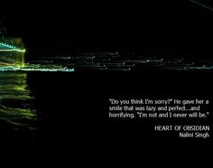 Heart of Obsidian - quote