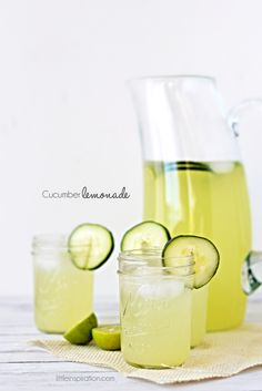 Cucumber Lemonade Recipe » Little Inspiration