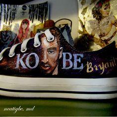 Kobe Bryant 24. #handpaintedshoes #customkicks #customshoes #personalizedshoes #ncatigbemd #kobebryant #kobe #24
