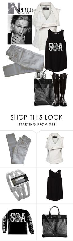 """Charlie / Inspired by JT"" by murray-amm ❤ liked on Polyvore featuring Sons of Anarchy, LIU•JO, Veda, Baccarat, Uniqlo, rag & bone, Givenchy, celebrity, blackandwhite and grey"