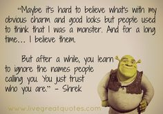 Donkey From Shrek Quotes | motivational quotes # inspiring quotes # movie quotes # trust quotes