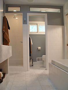 clerestory windows in a bathroom