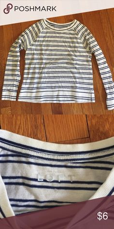 Ann Taylor LOFT Striped Shirt excellent condition, only worn twice Ann Taylor Tops Tees - Long Sleeve