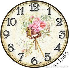 Декупаж + Photoshop's photos – 63 albums | VK Victorian Clocks, Victorian Dolls, Vintage Clocks, Clock Face Printable, Clock Template, Shabby Chic Clock, Clock Flower, Page Decoration, Decoupage Vintage