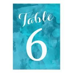 Shop Watercolor Romance Wedding Table Numbers created by RenImasa. Watercolor Wedding Invitations, Wedding Invitation Design, Custom Invitations, Personal Cards Design, Bridal Shower Cards, Wedding Table Numbers, Create Your Own Invitations, Perfect Wedding, Romance
