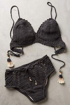 She Made Me Crochet High-Rise Bottoms - anthropologie.com