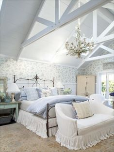 Beautiful Cottage Attic Bedroom