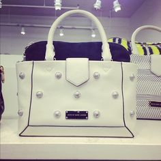 Love the polka dot hardware from Marc by Marc Jacobs