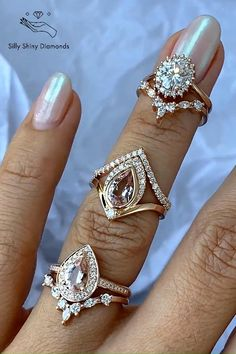 Dream Engagement Rings, Classic Engagement Rings, Engagement Wedding Ring Sets, Wedding Rings, Indian Wedding Jewelry, Bridal Jewelry, Indian Jewelry, Men's Jewelry Rings, Fine Jewelry